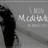 short meditation for soothing stress and overwhelm